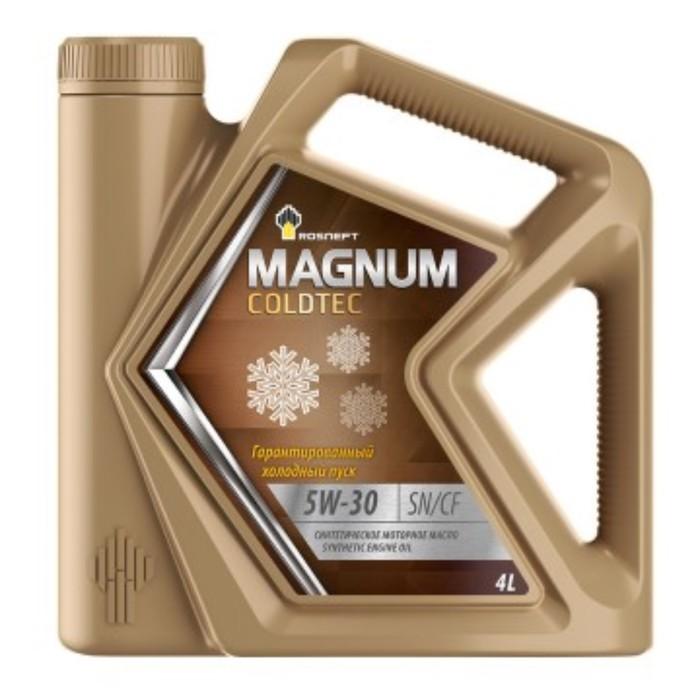 Масло моторное Rosneft Magnum Coldtec 5W-40, 4 л синт