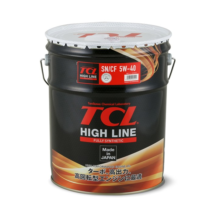 Масло моторное TCL High Line, Fully Synth, SN/CF, 5W40, 20л