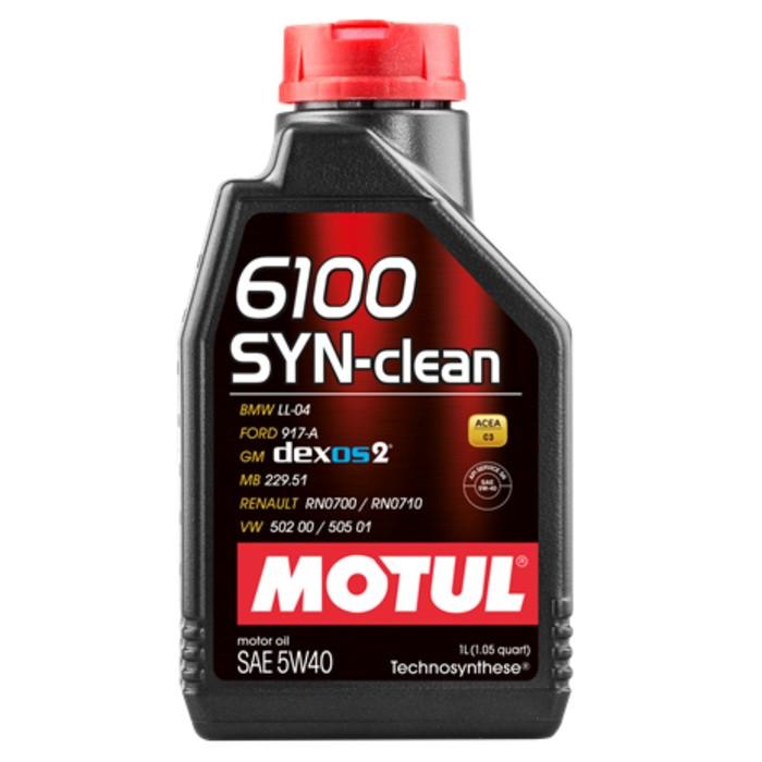 Масло моторное Motul 6100 SYN-CLEAN 5W40, 1 л
