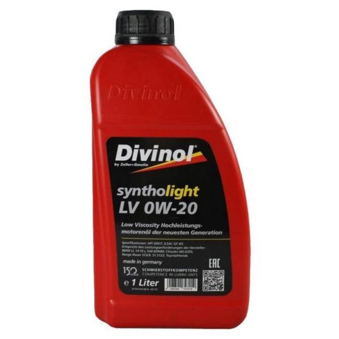 Масло моторное DIVINOL Syntholight LV 0W-20, 1 л