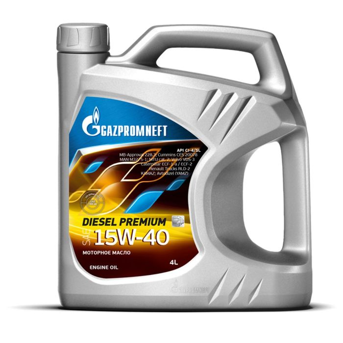 Масло моторное Gazpromneft Diesel Premium 15W-40, 4 л