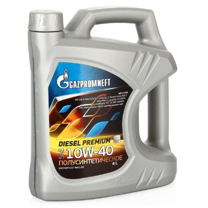 Масло моторное Gazpromneft Diesel Premium 10W-40, 4 л
