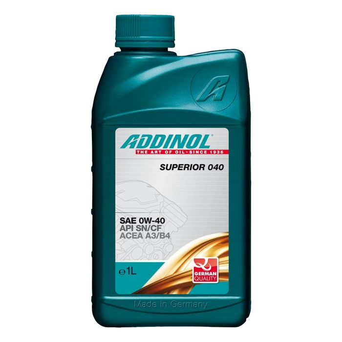 Масло моторное ADDINOL Superior 0W-40, 1 л