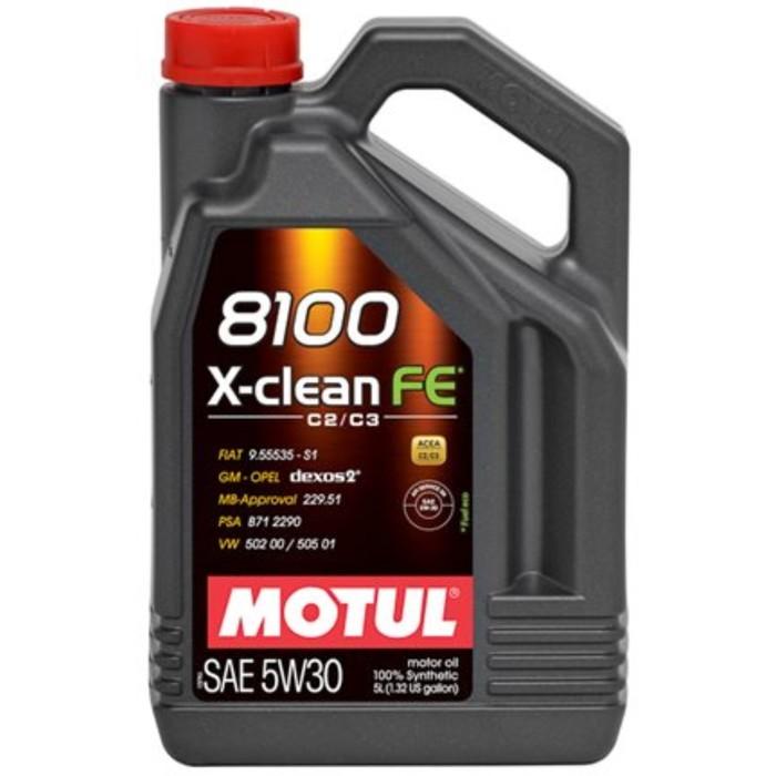 Масло моторное Motul 8100 X-clean+ 5w-30, 1 л