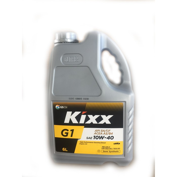 Масло моторное  Kixx G1 A3/B4 10W-40, 6 л