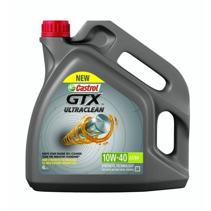 Масло моторное Castrol GTX ULTRACLEAN 10W-40 A3/B4, 4 л