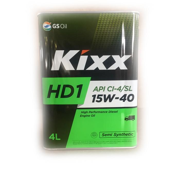 Масло моторное  Kixx HD1 CI-4 15W-40 D1, 4 л мет.