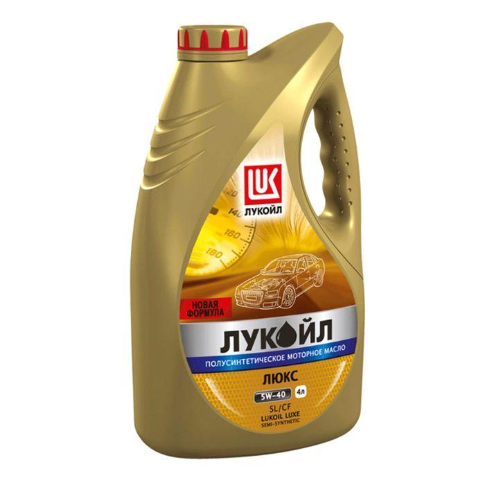 Моторное масло Лукойл Люкс 5W-40 SL/CF, 4 л