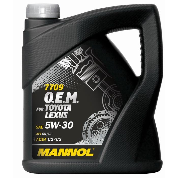 Масло моторное MANNOL 5w30 син. Toyota, Lexus 7709, 4 л