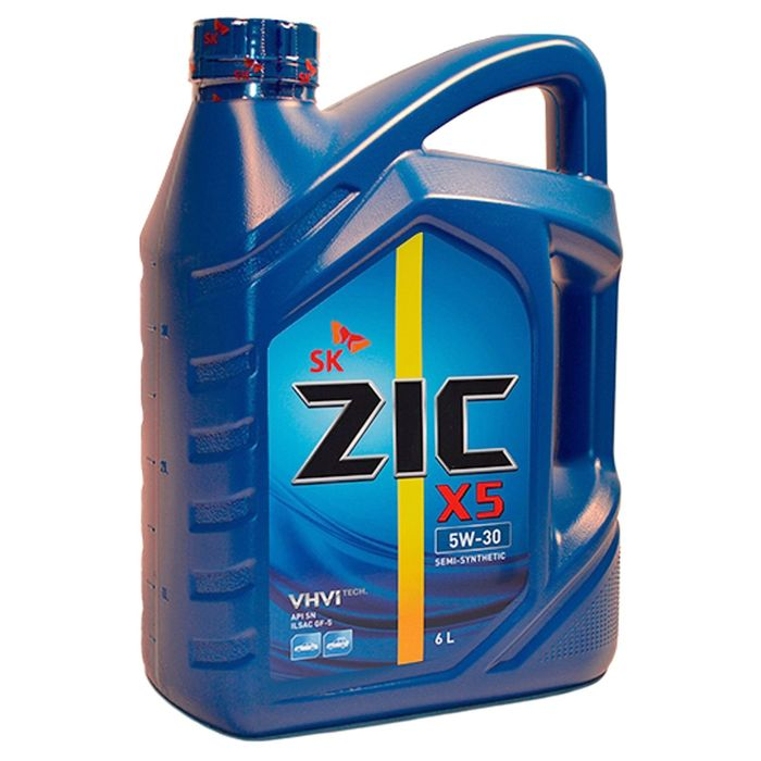 Масло моторное ZIC X5 5W-30, 6 л