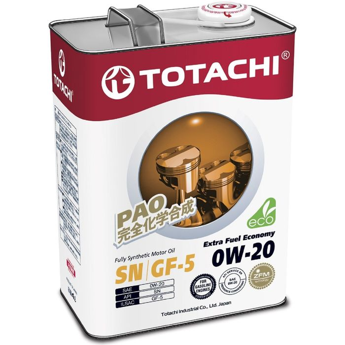 Масло моторное  Totachi Extra Fuel Fully Synthetic SN 0W-20, 4 л