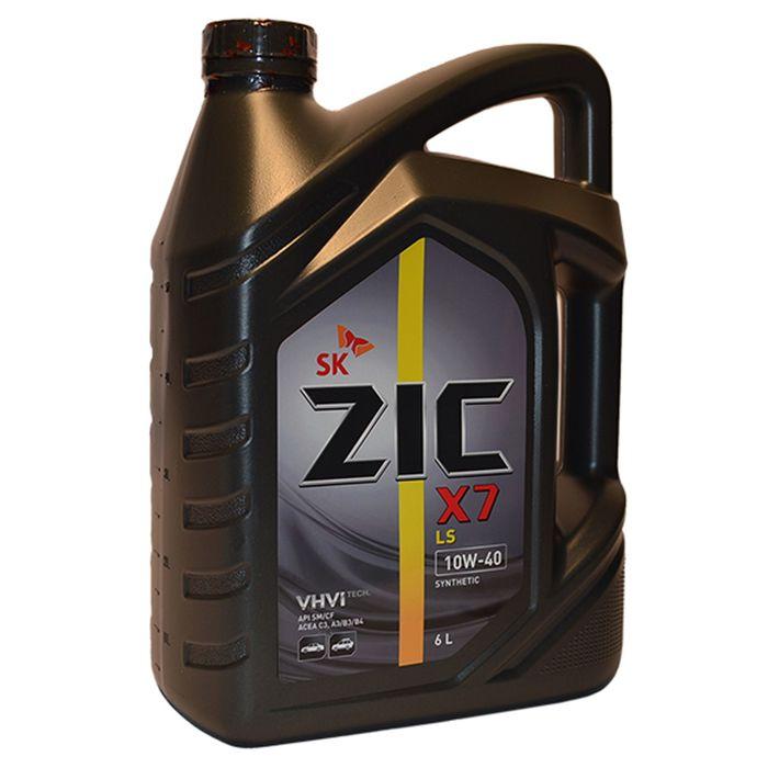 Масло моторное ZIC X7 LS 10W-40, 6 л