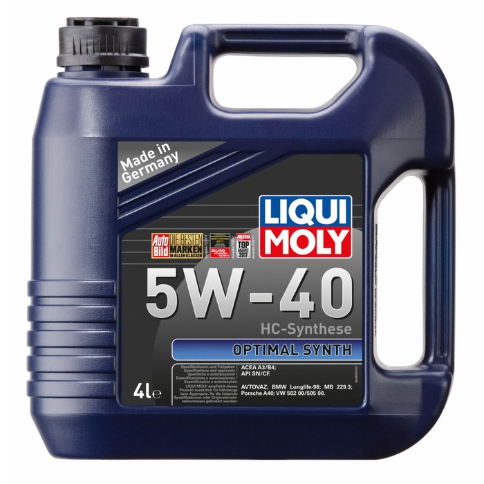 Масло моторное  LiquiMoly  5W-40 Optimal Synth HC, 4 л