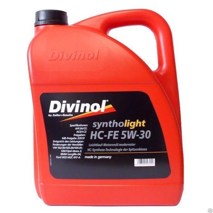 Масло моторное DIVINOL Syntholight HC-FE 5W-30, 4 л