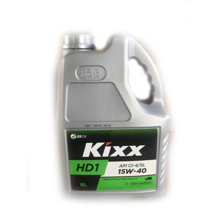 Масло моторное  Kixx HD1 CI-4 15W-40 D1, 6 л