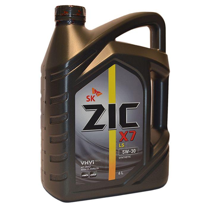Масло моторное ZIC X7 LS 5W-30, 6 л