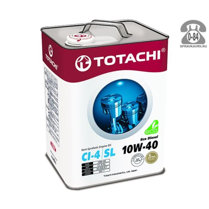 Масло моторное  Totachi Eco Diesel Semi-Synthetic SL 10W-40, 6 л