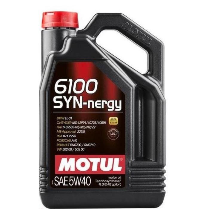Масло моторное Motul 6100 SYN-NERGY 5W40, 4 л