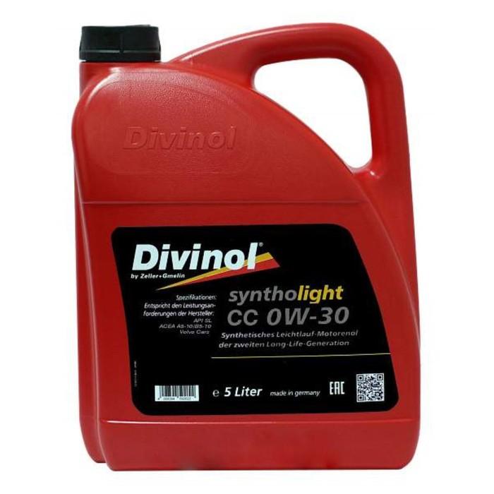 Масло моторное DIVINOL Syntholight CC 0W-30, 5 л