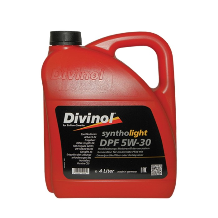 Масло моторное DIVINOL Syntholight DPF 5W-30, 4 л