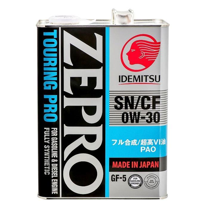 Масло моторное Idemitsu Zepro Touring Pro 0W-30 SN/CF GF-5, 4 л