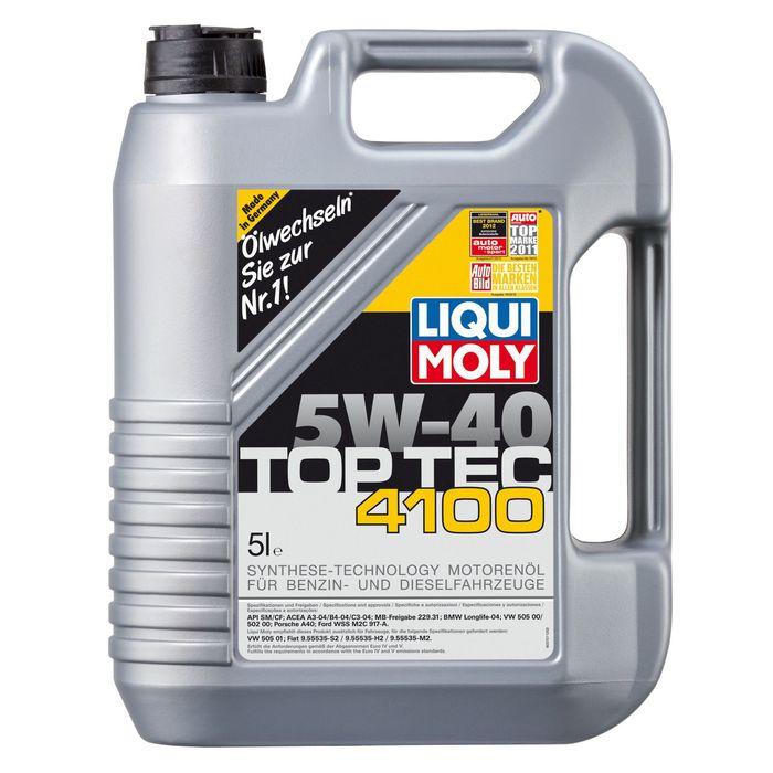 Масло моторное  Liqui Moly Top Tec 4100 5W-40, 5 л