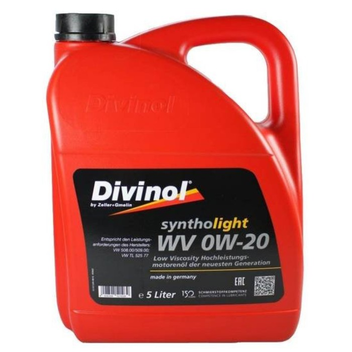 Масло моторное DIVINOL Syntholight LV 0W-20, 5 л