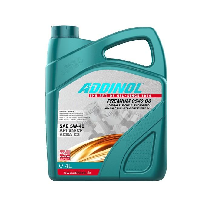 Масло моторное ADDINOL Premium 5w-40 C3, 4 л