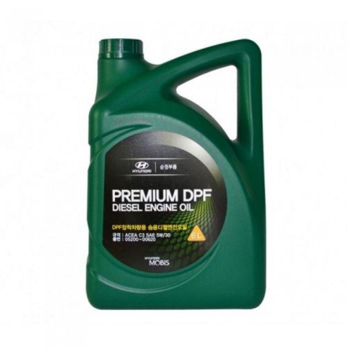 Масло моторное Hyundai Premium DPF Diesel 5W-30 05200-00620, 6 л