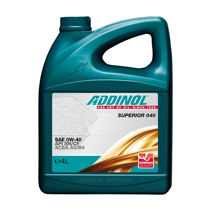 Масло моторное ADDINOL Superior 0W-40, 4 л