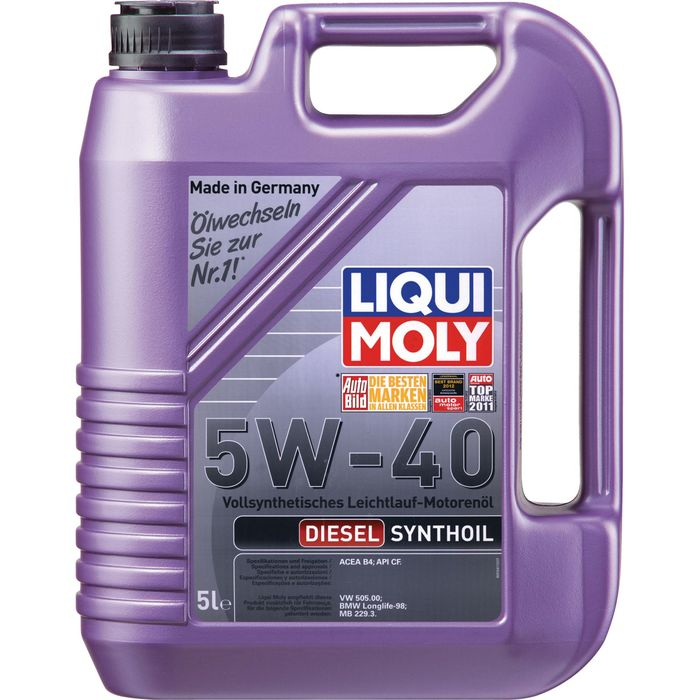 Масло моторное  Liqui Moly Diesel Synthoil 5W-40 CF B4, 5 л