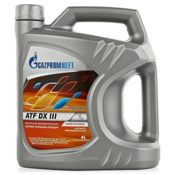 Масло трансмиссионное Gazpromneft ATF DX III, 4 л