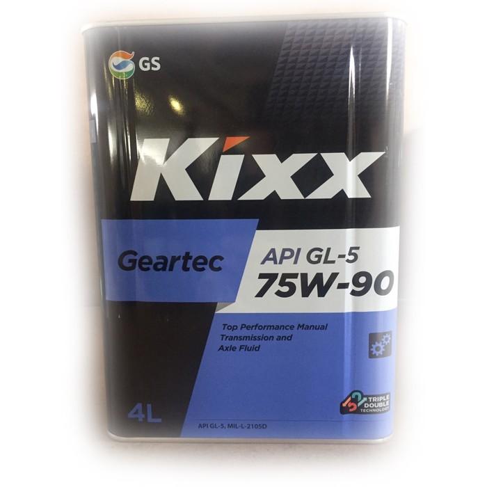 Масло трансмиссионное Kixx Geartec GL-5 75W-90, 4 л мет.