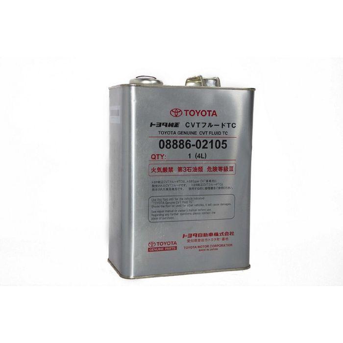 Трансмиссионная жидкость Toyota CVT FLUID TC, 4 л