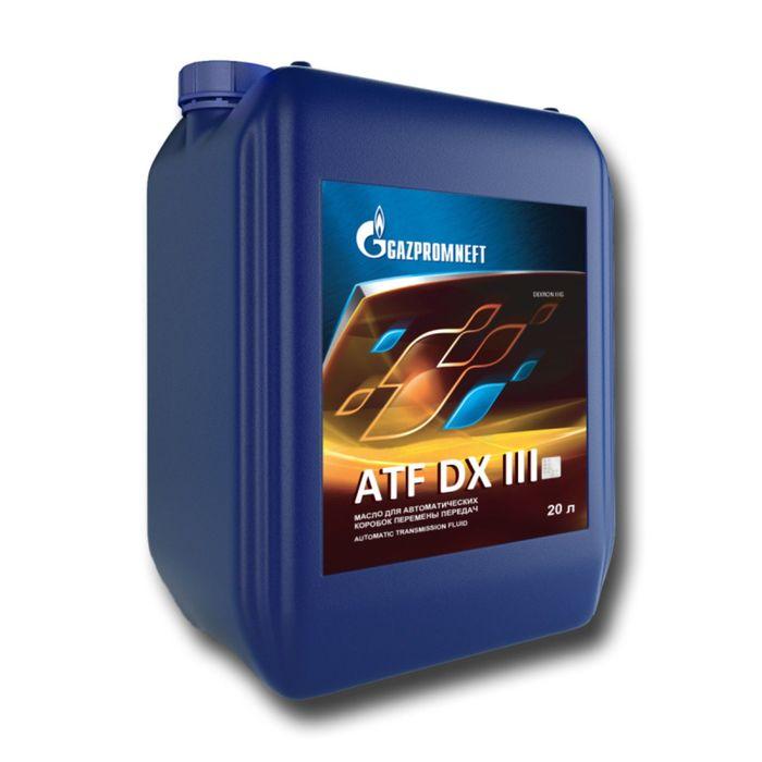 Масло трансмиссионное Gazpromneft ATF DX III, 20л