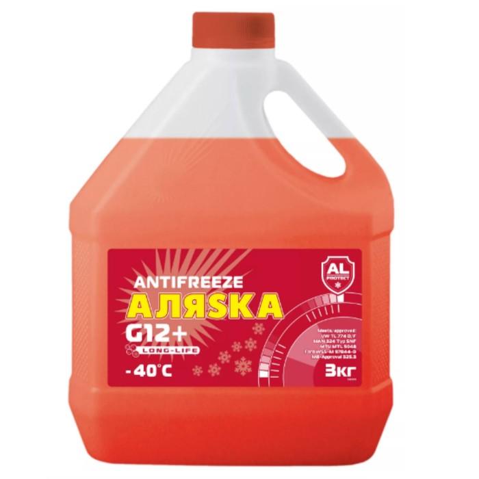 Антифриз Аляска Long Life G12+, красный, 3 кг