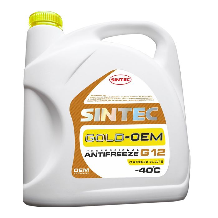 Антифриз SINTEC GOLD - 40 желтый, 5кг