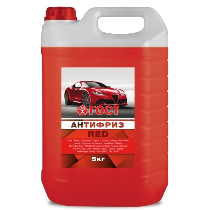 Антифриз ГОСТ, красный, 5 кг