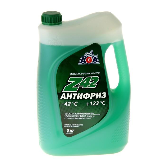 Антифриз готовый AGA -42С/+123С зелёный, 5 л
