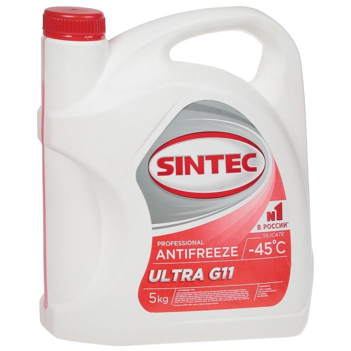 """Антифриз Sintec """"Ultra"""", красный, G-11, 5 кг, (Акция 5 кг по цене 4 кг)"""