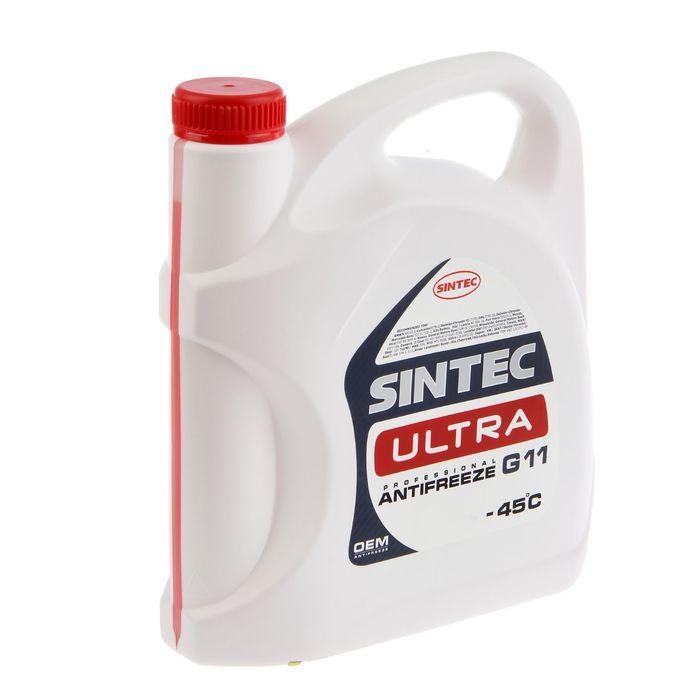 Антифриз SINTEC Ultra красный, 5 кг