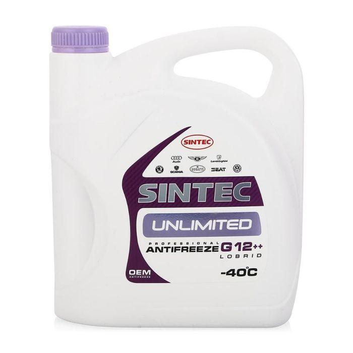 Антифриз SINTEC UNLIMITED красно-фиолетовый, 5 кг