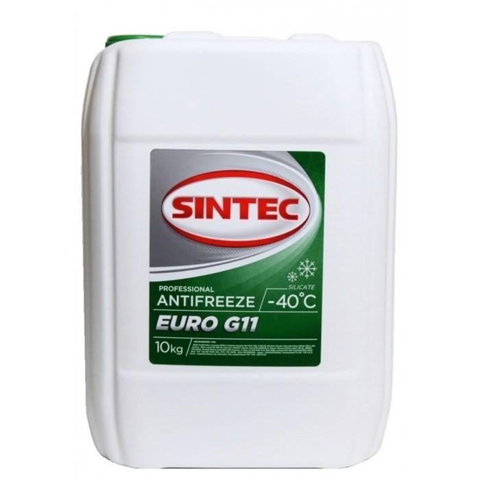 """Антифриз Sintec """"Euro"""", зеленый, G-11, 10 кг"""