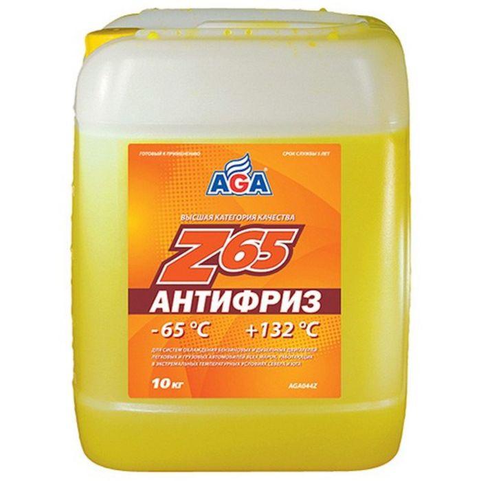 Антифриз AGA желтый -65С/+132С готовый 10л