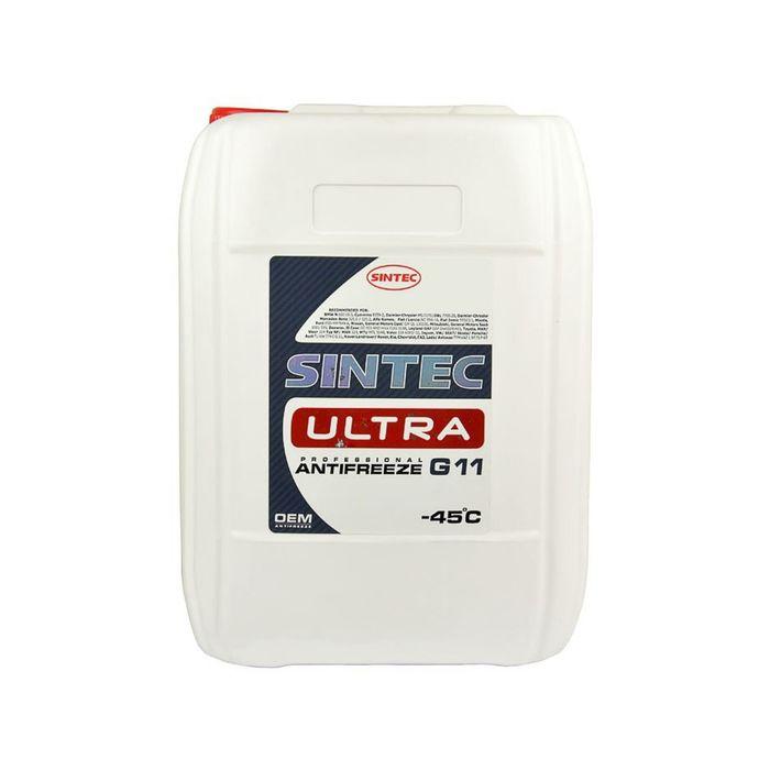 Антифриз Sintec Ultra -45 красный G11 10кг