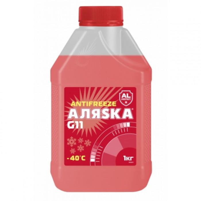 Антифриз Аляска G11, красный, 1 кг