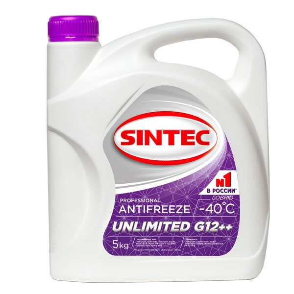 Антифриз Sintec Unlimited G12++ 5кг
