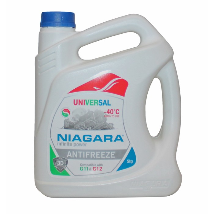 Антифриз Ниагара универсальный, G11 и G12, синий 1 кг