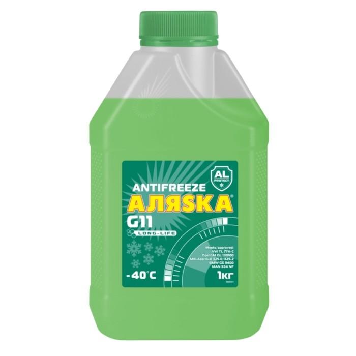 Антифриз Аляска Long Life G11, зеленый, 1 кг