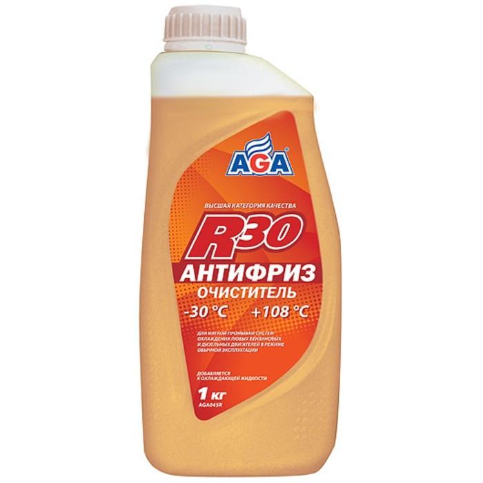 Антифриз-очиститель AGA R30 -45С универсальный готовый, цвет нейтральный 1л